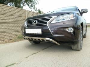 """Защита переднего бампера """"скоба"""" d60 на Lexus RX 270/350/450h (2013-)"""