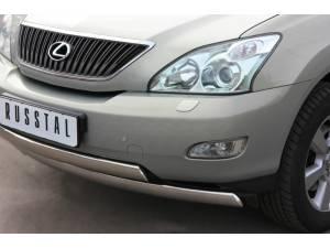 """Защита переднего бампера двойная """"овал"""" d75/42 на Lexus RX 300/330/350 (2003-2009)"""