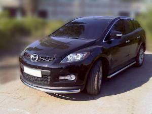 Защита переднего бампера d53 на Mazda CX-7 (2006-2010)