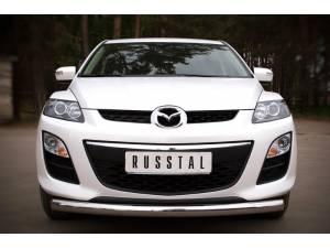 "Защита переднего бампера ""дуга"" d76 на Mazda CX-7 (2010-2012)"