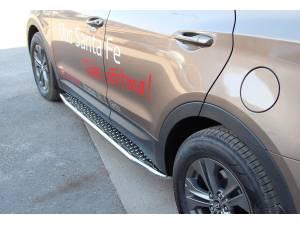 Боковые пороги серия TOUR на Hyundai Santa Fe (2013-)