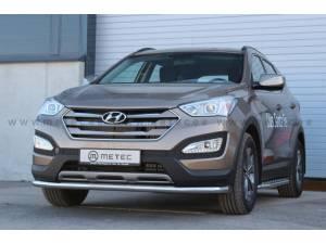 Защита переднего бампера Metec на Hyundai Santa Fe (2013-)