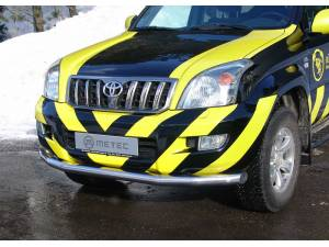 Защита переднего бампера Metec на Toyota Land Cruiser 120 (2003-2009)