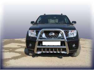 Кенгурятник высокий с защитой картера d76 на Nissan Navara D40 (2005-)