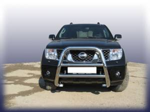Кенгурятник высокий d76 на Nissan Navara D40 (2005-)