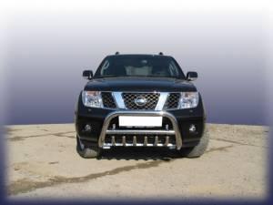 Кенгурятник низкий с защитой картера d76 на Nissan Navara D40 (2005-)