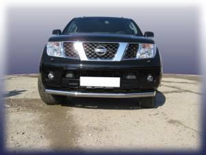 Защита переднего бампера d76 на Nissan Navara D40 (2005-)