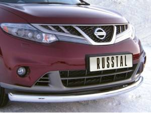 Защита переднего бампера d76 на Nissan Murano (2010-2015)