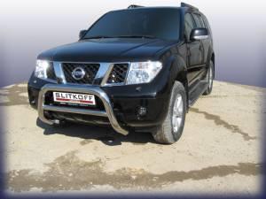 Кенгурятник низкий d76 на Nissan Pathfinder (2005-2010)