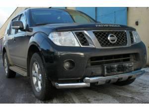 Защита переднего бампера d76 на Nissan Pathfinder (2010-2014)