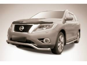 "Защита переднего бампера ""волна"" d57 на Nissan Pathfinder (2014-)"