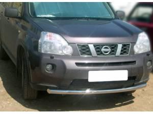 Защита переднего бампера d60 на Nissan X-Trail (2007-2011)