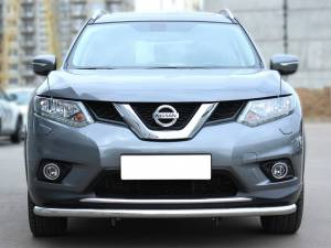 Защита переднего бампера d53 на Nissan X-Trail (2015-)
