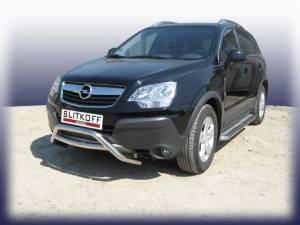 Кенгурятник низкий с поперечиной d57 на Opel Antara (2007-2010)