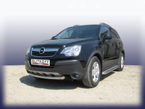 Защита переднего бампера d57 на Opel Antara (2007-2010)