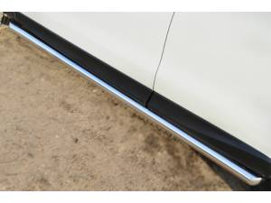 Пороги труба d63 (вариант 1) на Subaru Forester (2013-)