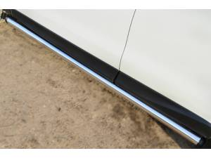 Пороги труба d63 (вариант 2) на Subaru Forester (2013-)