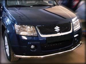 Защита переднего бампера d60 (загибами)на Suzuki Grand Vitara (5 дв.) (2005-2008)