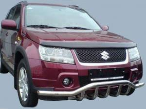 "Защита переднего бампера ""волна"" d60/43 на Suzuki Grand Vitara (5 дв.) (2008-2012)"