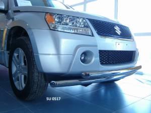 Защита переднего бампера двойная d60/60 на Suzuki Grand Vitara (5 дв.) (2008-2012)