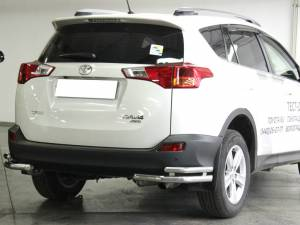 Уголки двойные d53/43 на Toyota Rav4 (2013-2015)
