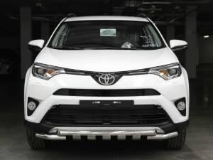 Защита переднего бампера d53/53 (с накладками) на Toyota Rav4 (2016-)