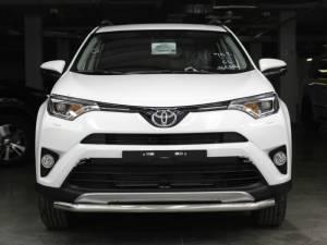 Защита переднего бампера d53 на Toyota Rav4 (2016-2019)