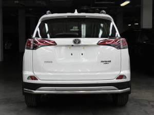 Защита заднего бампера d53 на Toyota Rav4 (2016-2019)