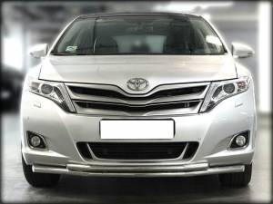 Защита переднего бампера двойная d53/42 на Toyota Venza (2013-)