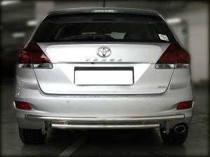 Защита заднего бампера двойная d53/43 на Toyota Venza (2013-)