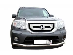 Защита переднего бампера d60 на Honda Pilot (2008-2011)