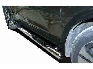 Пороги труба с проступью d76 на Kia Sportage (2010-2013)