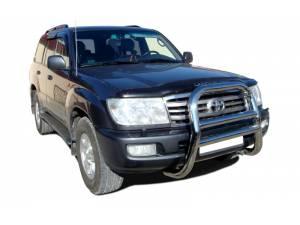 Кенгурятник высокий d76 на Toyota Land Cruiser 100 (1997-2008)