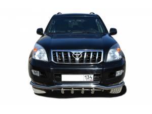 "Защита переднего бампера ""волна"" с защитой d60/42 на Toyota Land Cruiser 120 (2003-2009)"