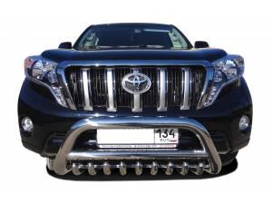 Кенгурятник низкий с защитой d76/60/42 на Toyota Land Cruiser 150 (2014-)