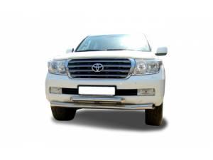 Защита переднего бампера двойная d76/60 на Toyota Land Cruiser 200 (2007-2012)