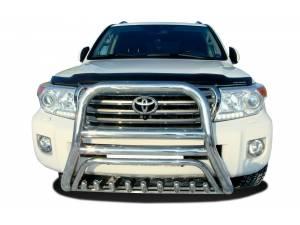 Кенгурятник высокий с защитой d76/60/42 на Toyota Land Cruiser 200 (2012-2015)