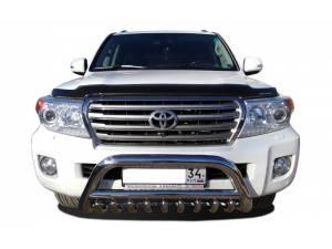 Кенгурятник низкий с защитой d76/60/42 на Toyota Land Cruiser 200 (2007-2012)
