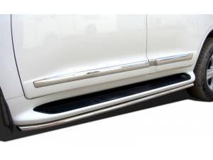 Защита штатного порога d42 на Toyota Land Cruiser 200 (2012-2015)