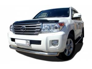 Защита переднего бампера d76 на Toyota Land Cruiser 200 (2012-2015)