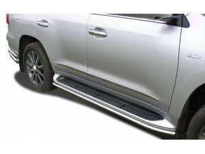 Защита штатного порога d42 на Lexus LX570 (2007-2012)