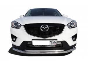 Защита переднего бампера двойная d60/42 на Mazda CX 5 (2011-)