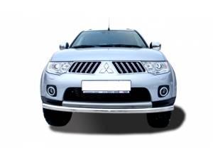 Защита переднего бампера d76 на Mitsubishi Pajero Sport (2008-2012)