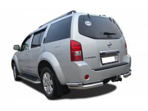 Защита штатного порога d53 на Nissan Pathfinder (2005-2010)