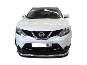 Защита переднего бампера d60 на Nissan Qashqai (2014-)