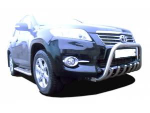 Кенгурятник низкий с защитой d76/60/42 на Toyota Rav4 (2010-2012)