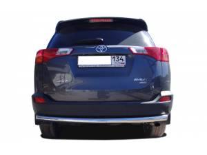 Защита заднего бампера d60 на Toyota Rav4 (2013-2015)