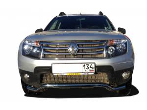 Защита переднего бампера d53 на Renault Duster