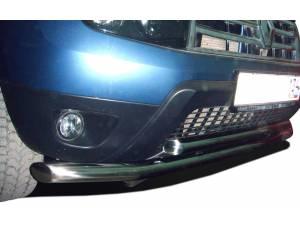 Защита переднего бампера двойная d60/53 на Renault Duster