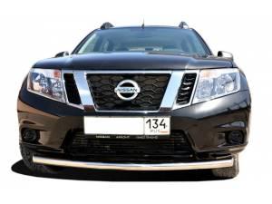 Защита переднего бампера d60 на Nissan Terrano (2014-)